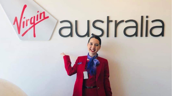 Erika is Flying Sky High with Virgin Australia and ESL Tutoring